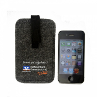 Classic Felt Mobile Phone Bag with Velcro Flap