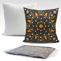 49x49cm Cushion with sublimation printed cover with zipper closure